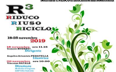 MADRE TERRA R3 – RIDUCO RIUSO RICICLO Evento di formazione per le scuole